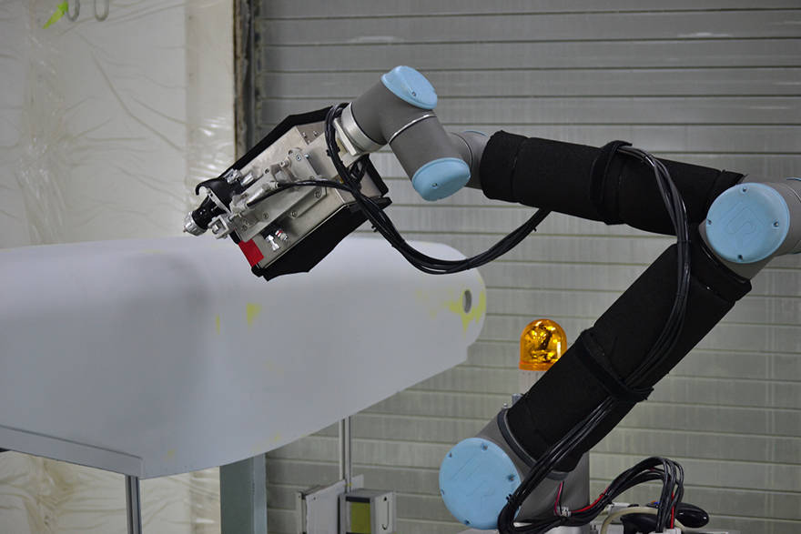 Advance Visual System for Positioning of Spraying Gun